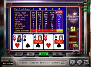 How to play video poker online for free and win money?